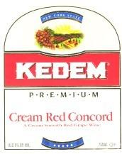Kedem Cream Red Concord 750ml - Case of 12
